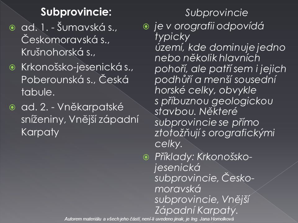 Subprovincie: Subprovincie