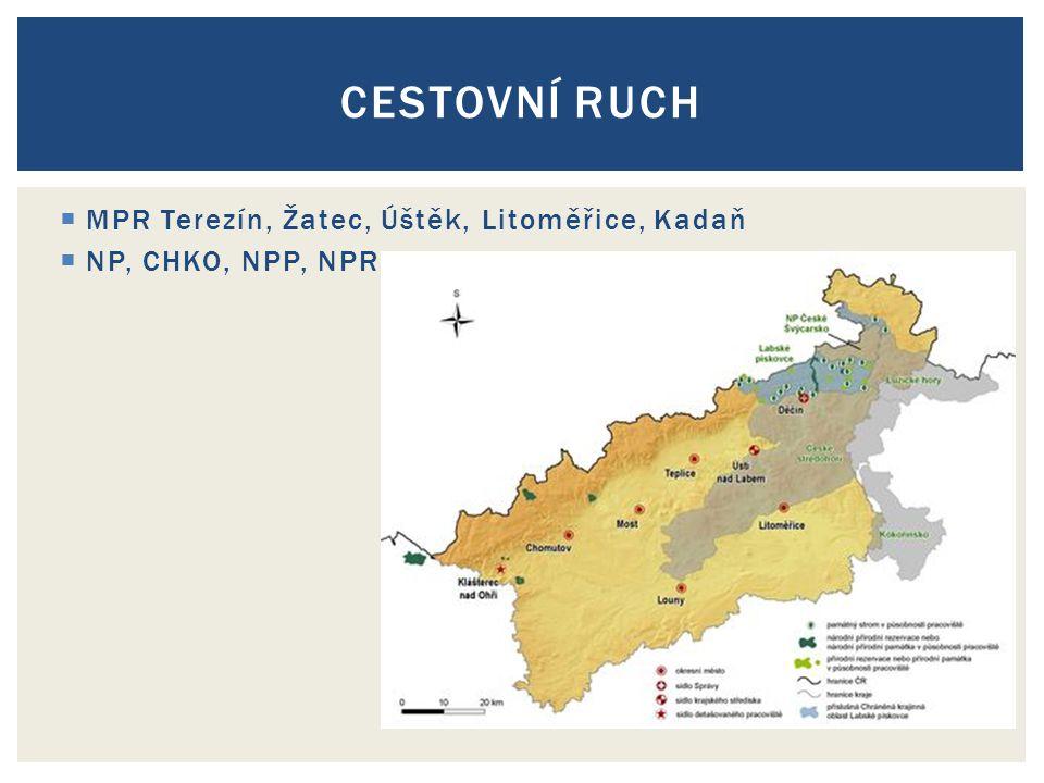 Cestovní ruch MPR Terezín, Žatec, Úštěk, Litoměřice, Kadaň