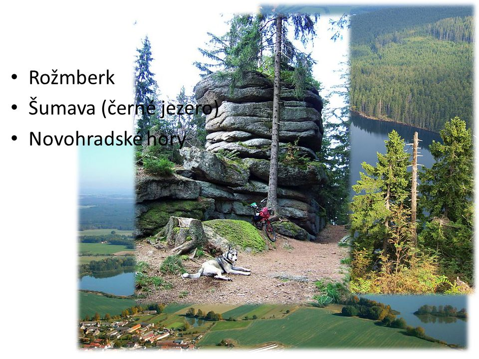 Fotografie lokalit Rožmberk Šumava (černé jezero) Novohradské hory