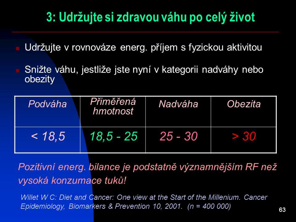 3: Udržujte si zdravou váhu po celý život