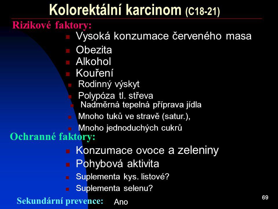 Kolorektální karcinom (C18-21)