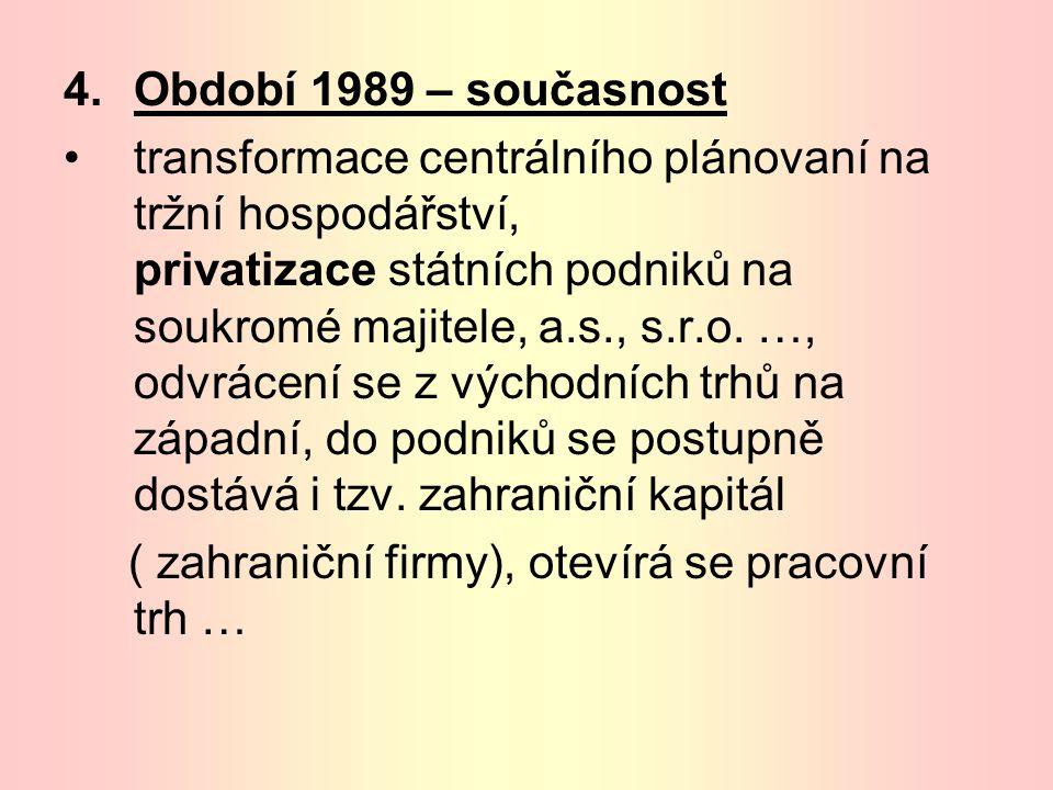 Období 1989 – současnost