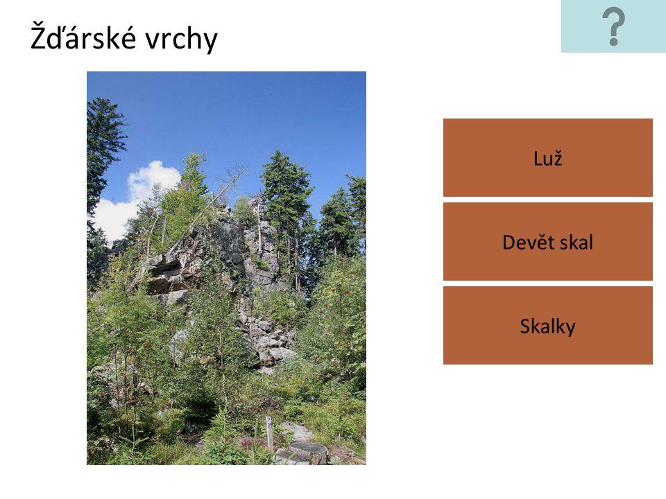 Žďárské vrchy Luž Devět skal Skalky