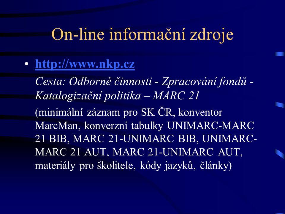 On-line informační zdroje