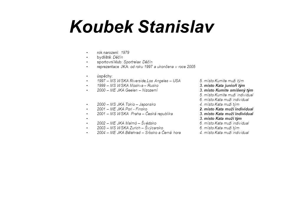 Koubek Stanislav rok narození: 1979 bydliště: Děčín