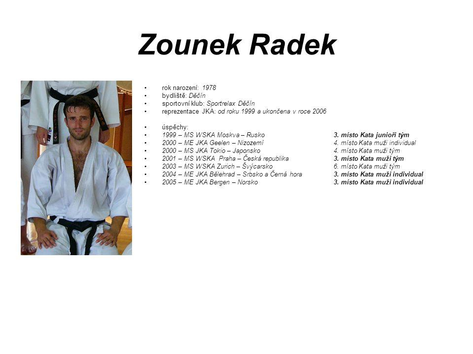 Zounek Radek rok narození: 1978 bydliště: Děčín