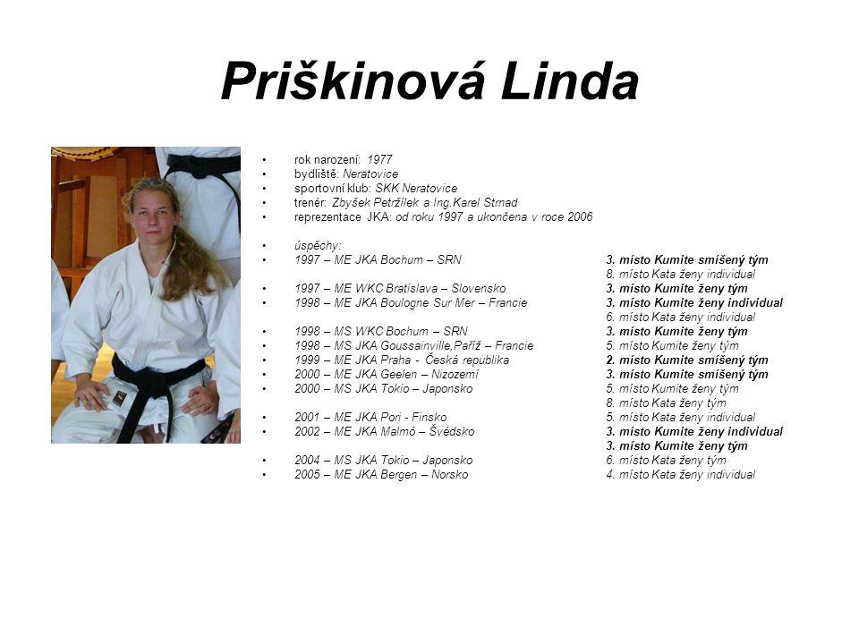 Priškinová Linda rok narození: 1977 bydliště: Neratovice