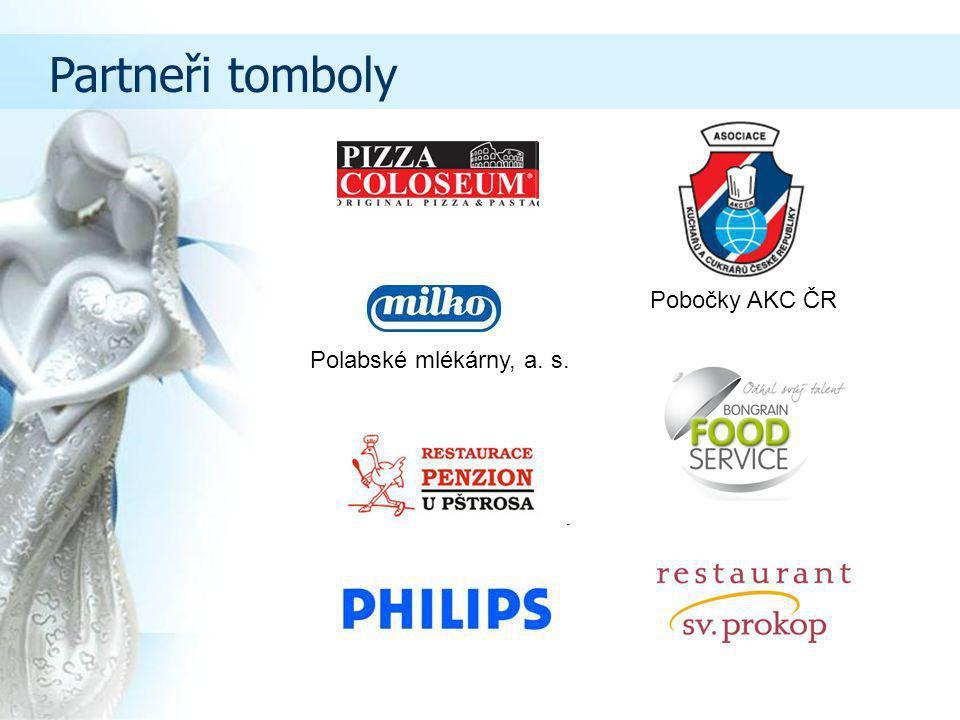Partneři tomboly Pobočky AKC ČR Polabské mlékárny, a. s.