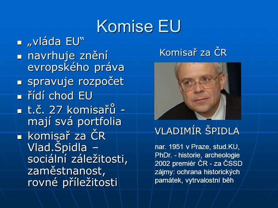 """Komise EU """"vláda EU navrhuje znění evropského práva spravuje rozpočet"""