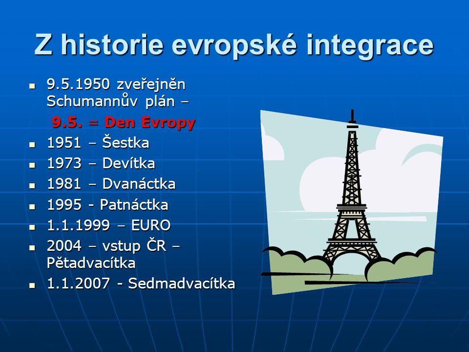 Z historie evropské integrace