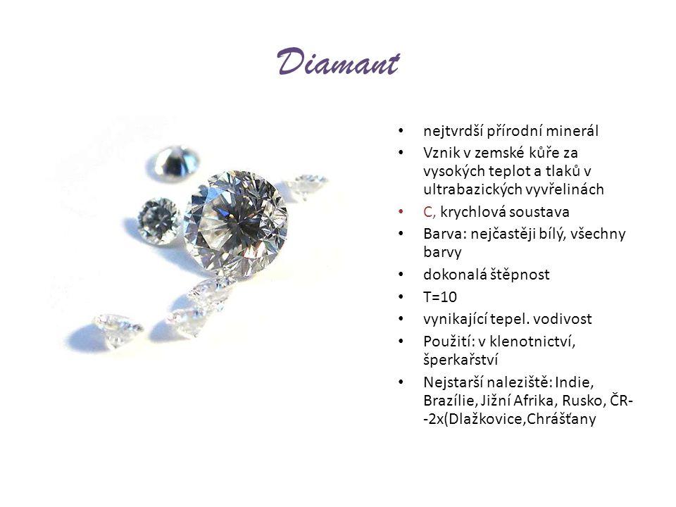 Diamant nejtvrdší přírodní minerál