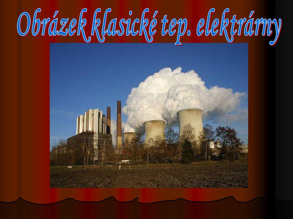 Obrázek klasické tep. elektrárny