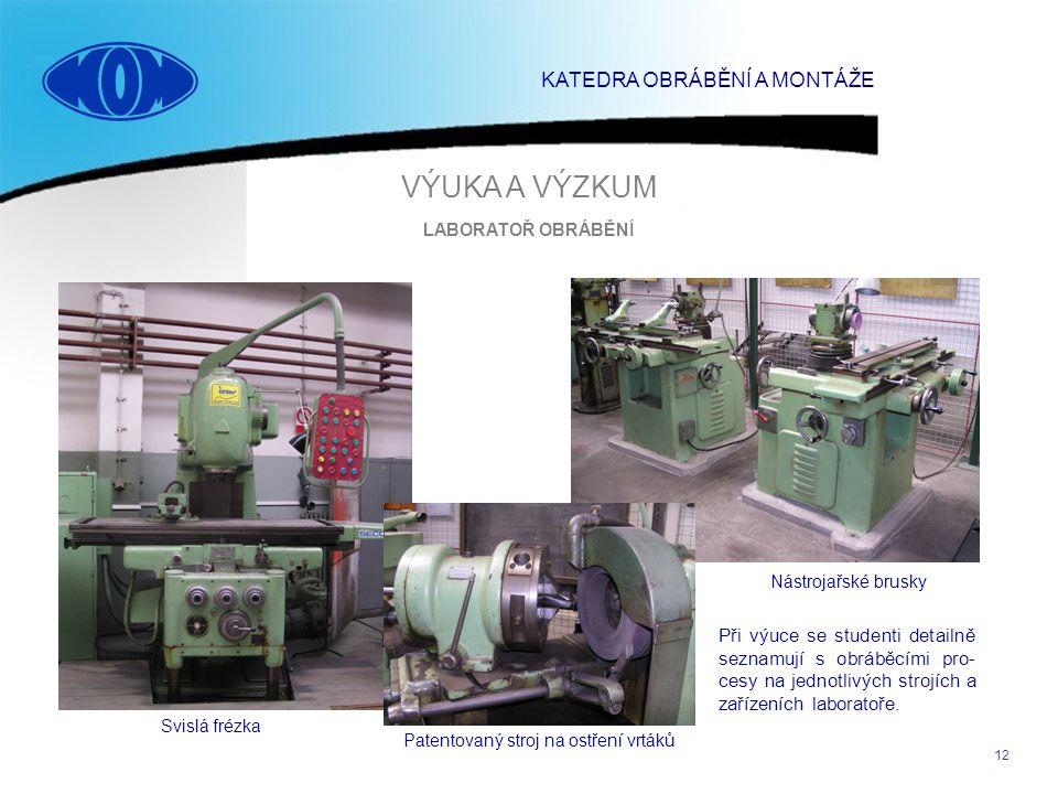 Patentovaný stroj na ostření vrtáků