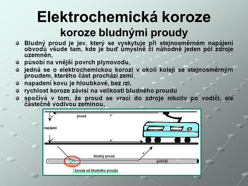 Elektrochemická koroze koroze bludnými proudy