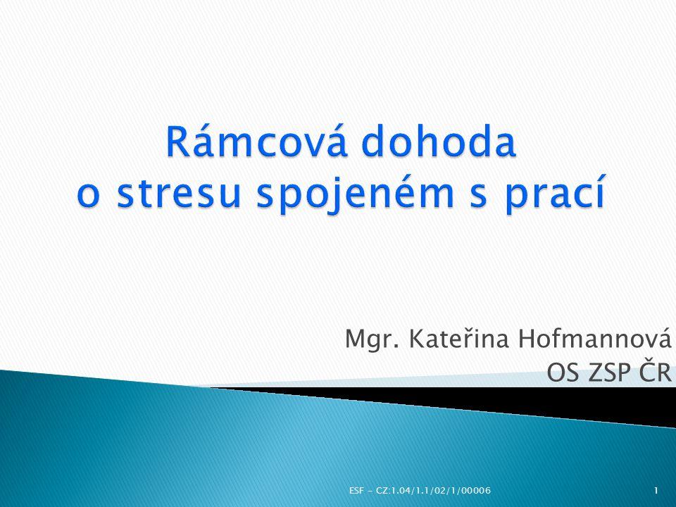 Rámcová dohoda o stresu spojeném s prací