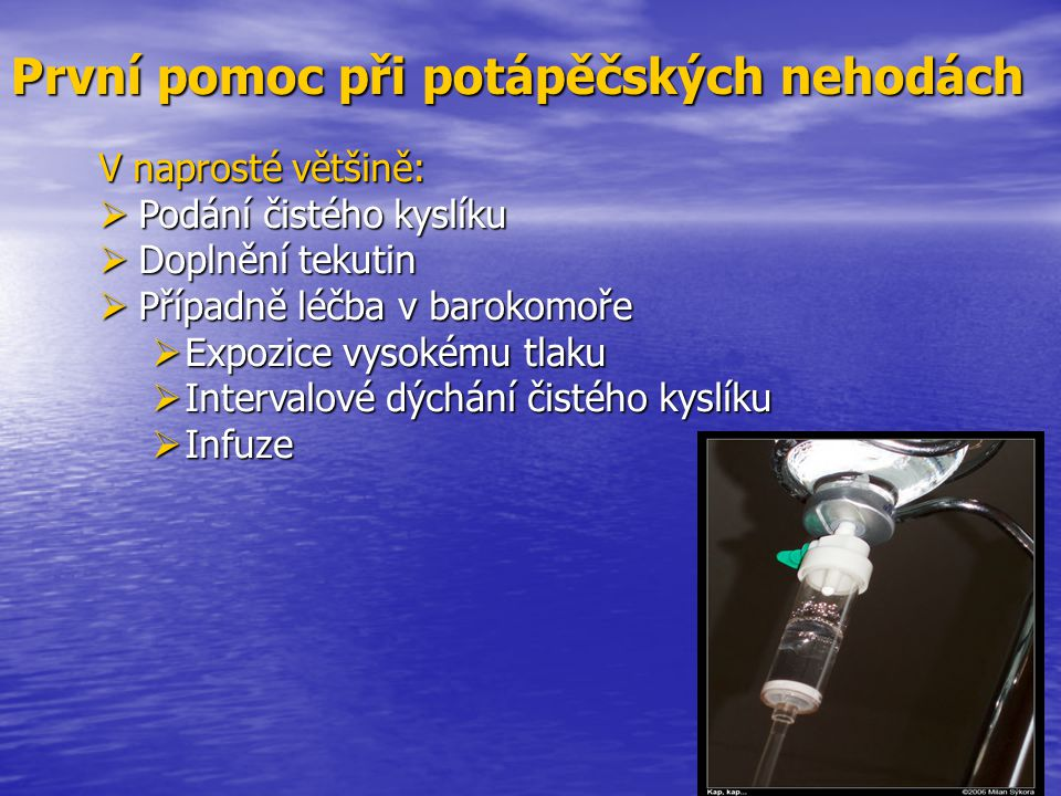 První pomoc při potápěčských nehodách
