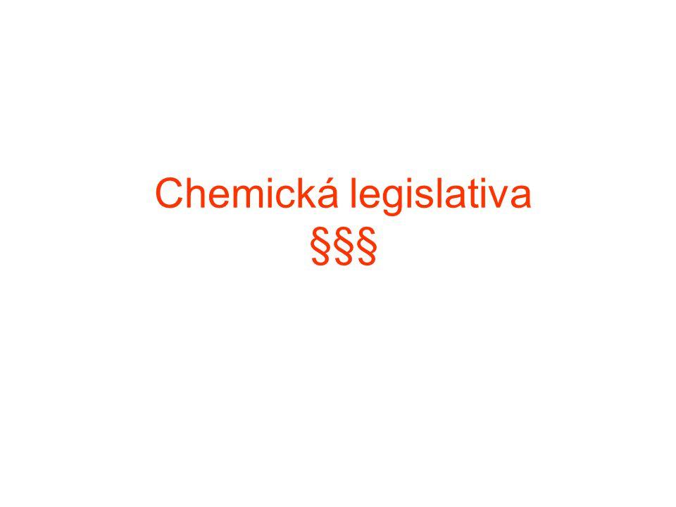 Chemická legislativa §§§