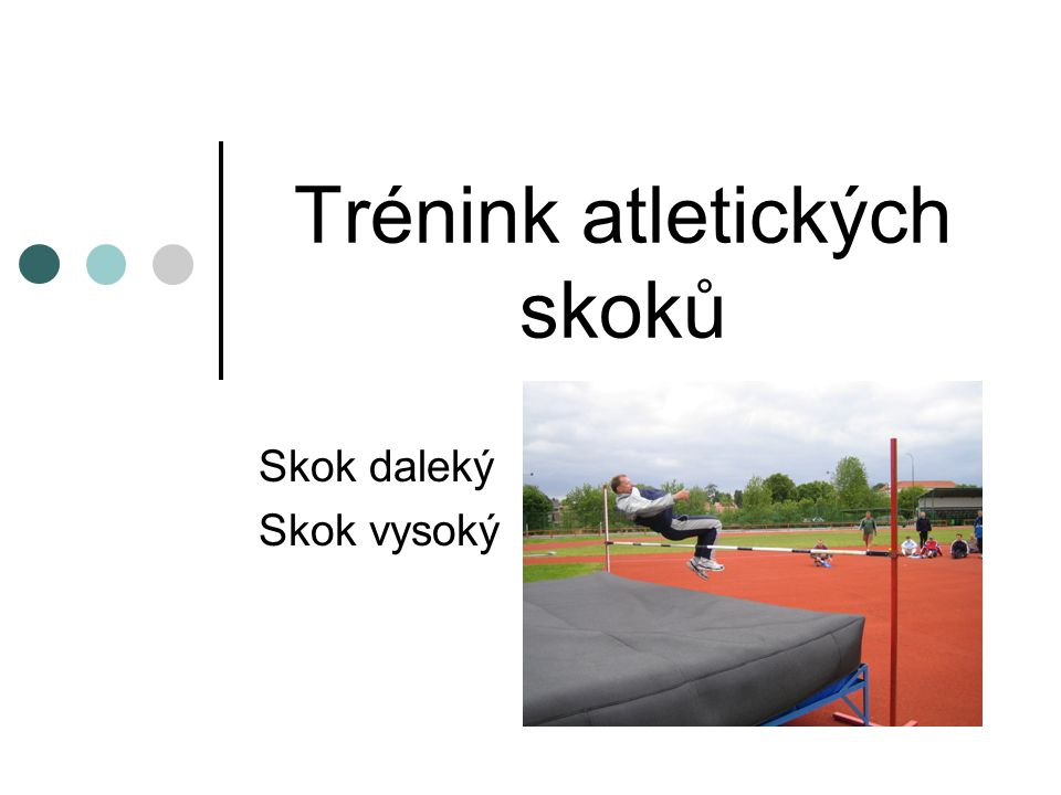 Trénink atletických skoků