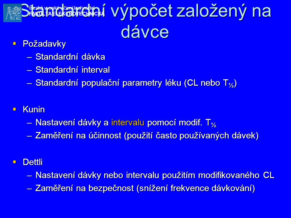 Standardní výpočet založený na dávce