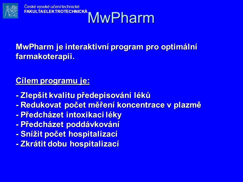 MwPharm MwPharm je interaktivní program pro optimální farmakoterapii.