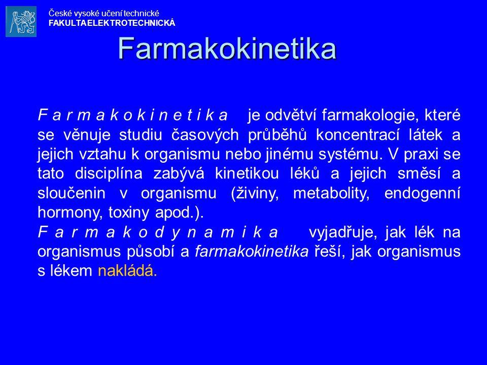 Farmakokinetika České vysoké učení technické. FAKULTA ELEKTROTECHNICKÁ.