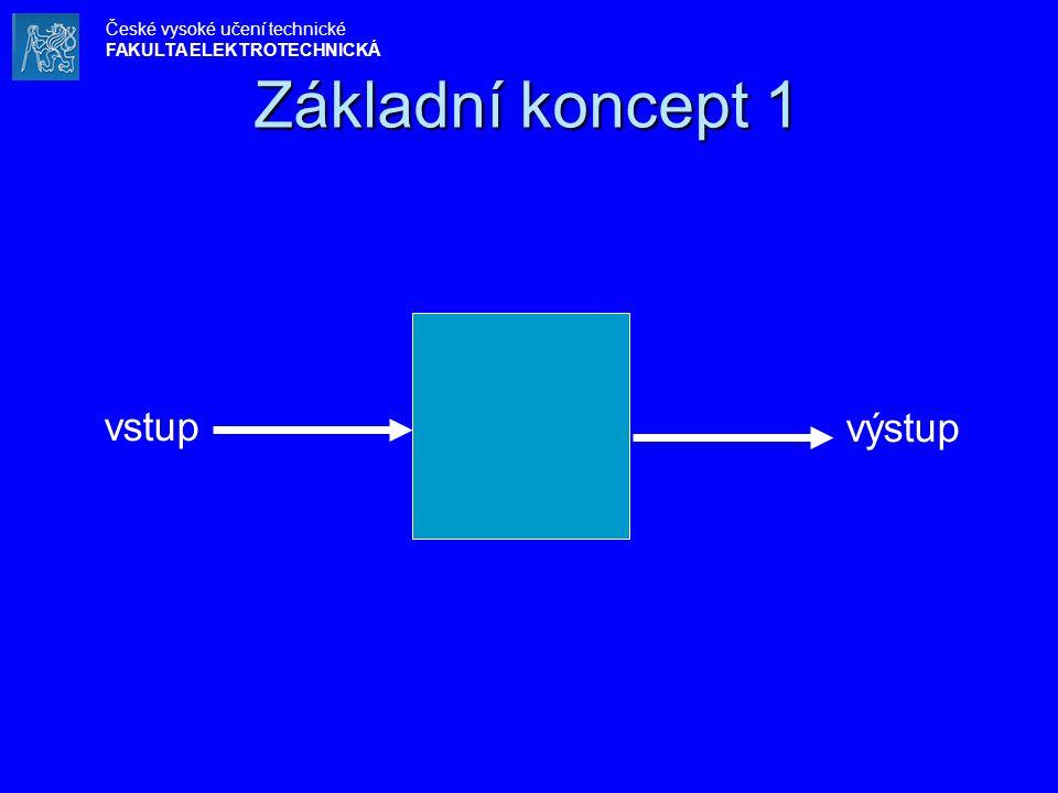 Základní koncept 1 vstup výstup České vysoké učení technické