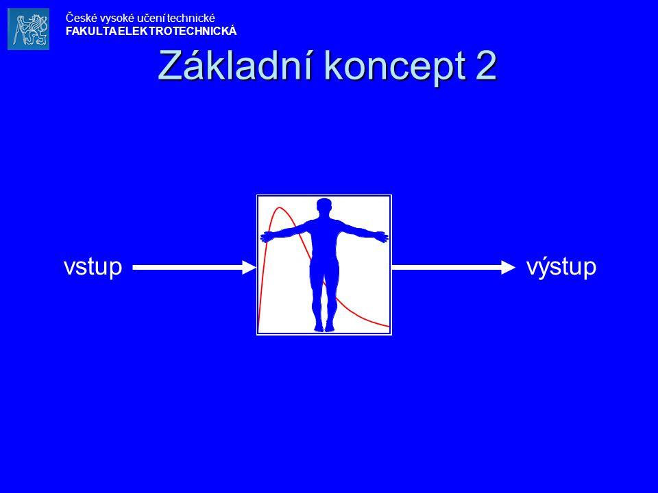 Základní koncept 2 vstup výstup České vysoké učení technické