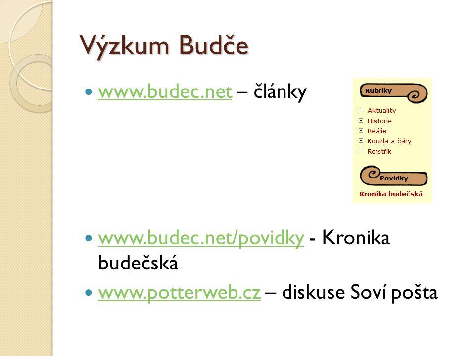 Výzkum Budče www.budec.net – články