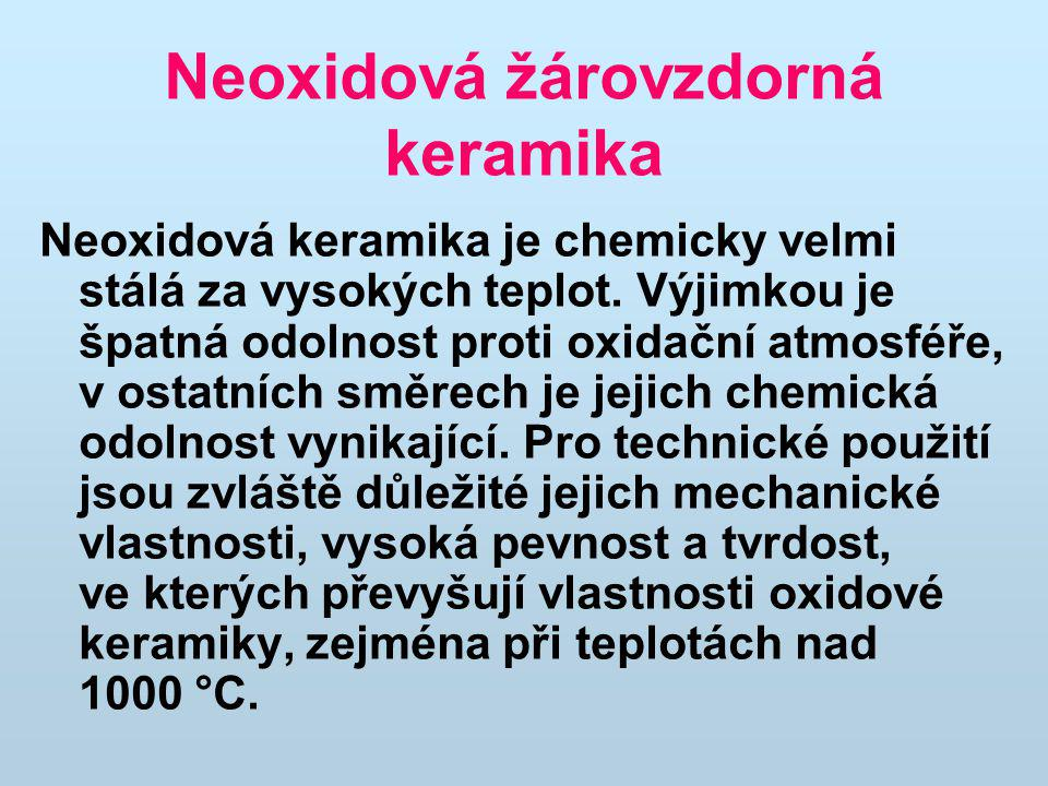 Neoxidová žárovzdorná keramika