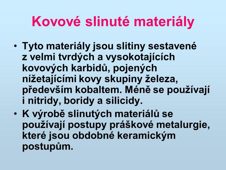Kovové slinuté materiály