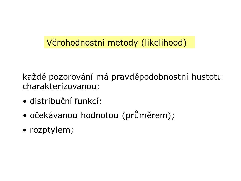Věrohodnostní metody (likelihood)