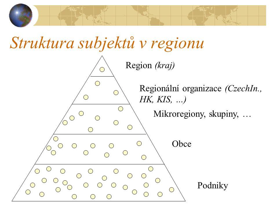 Struktura subjektů v regionu