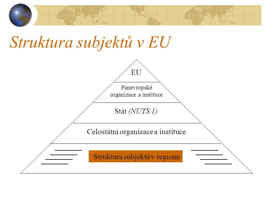 Struktura subjektů v EU