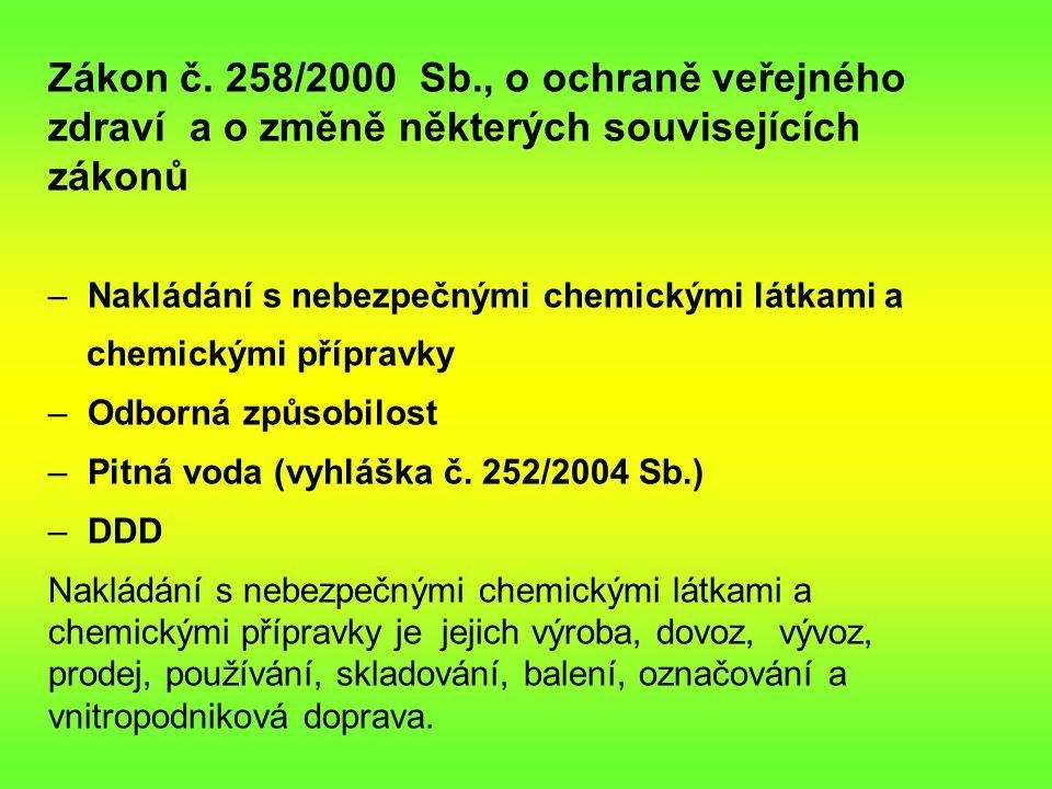 Zákon č. 258/2000 Sb., o ochraně veřejného zdraví a o změně některých souvisejících zákonů