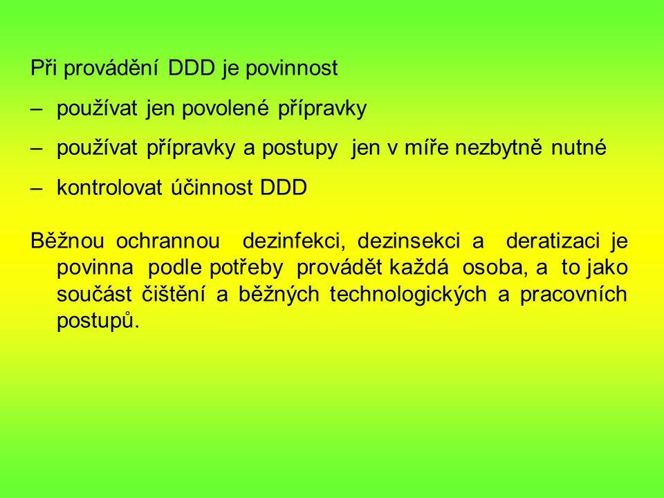 Při provádění DDD je povinnost