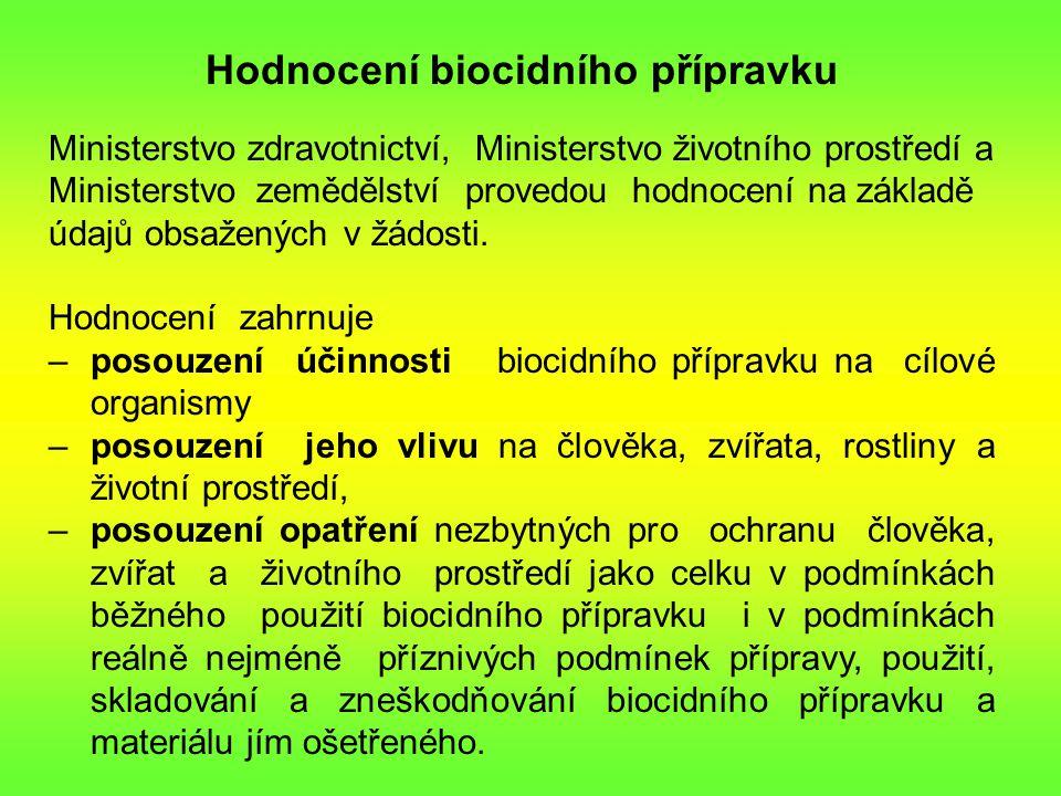 Hodnocení biocidního přípravku