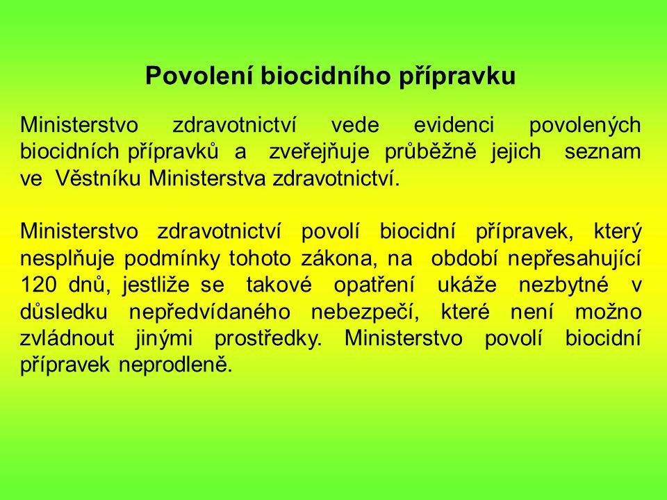 Povolení biocidního přípravku