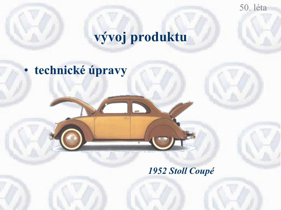 50. léta vývoj produktu technické úpravy 1952 Stoll Coupé