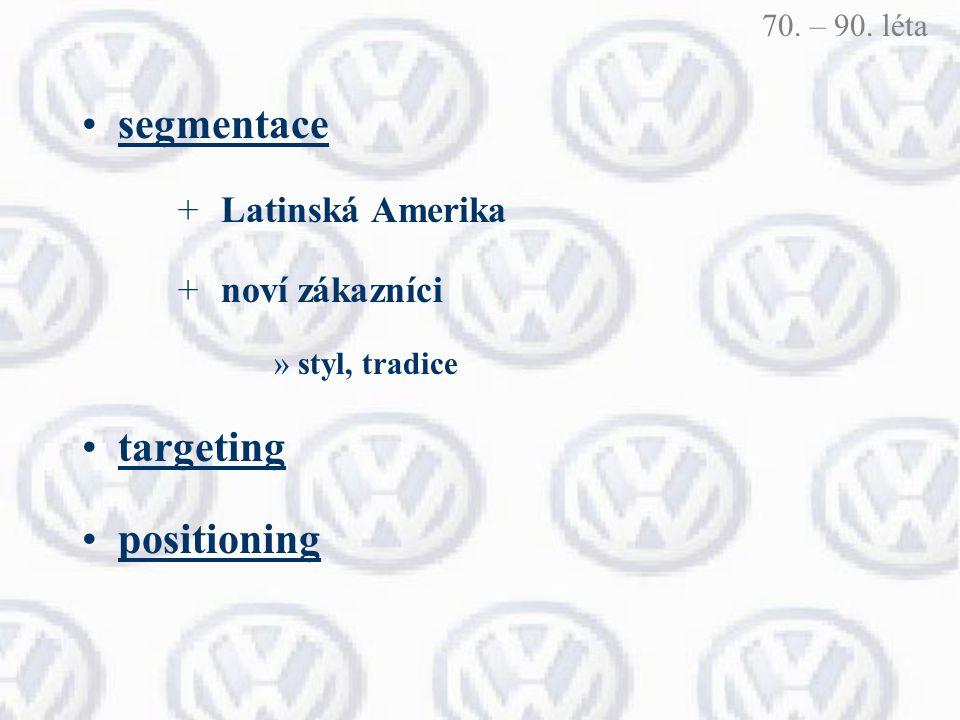 segmentace targeting positioning Latinská Amerika noví zákazníci
