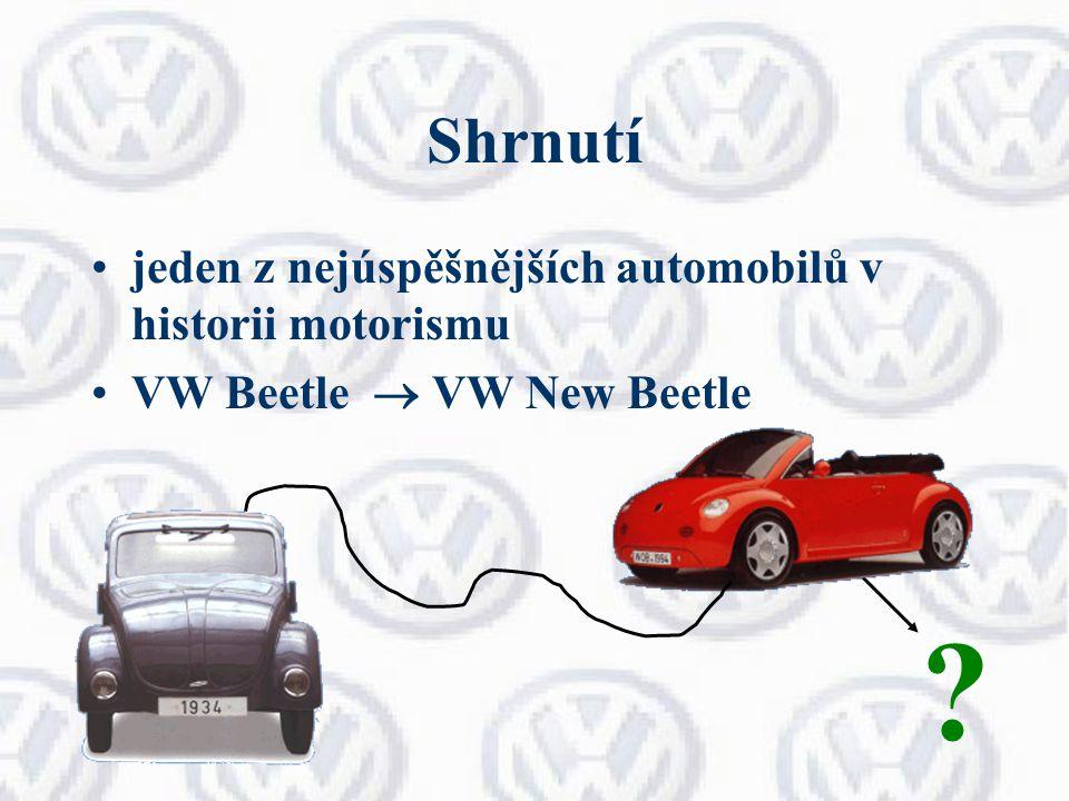 Shrnutí jeden z nejúspěšnějších automobilů v historii motorismu