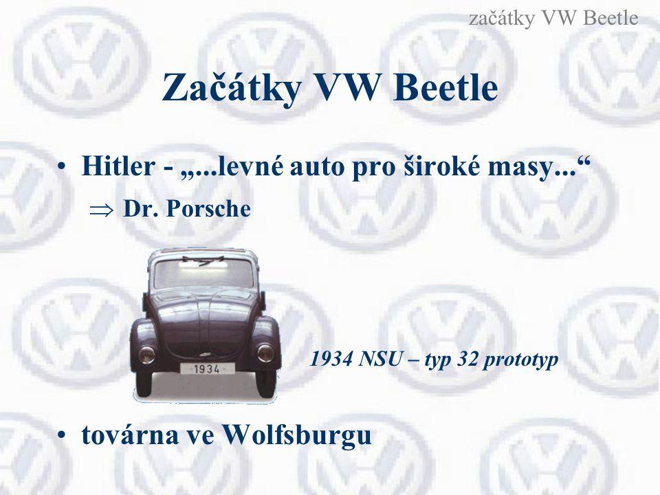 "Začátky VW Beetle Hitler - ""...levné auto pro široké masy..."