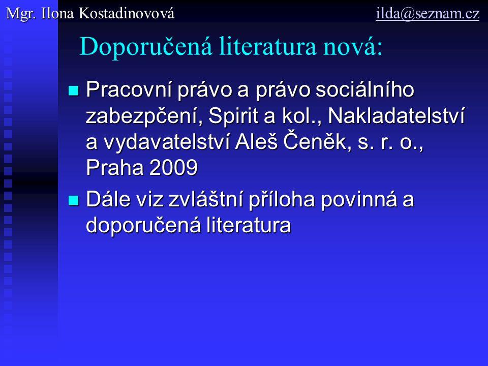 Doporučená literatura nová: