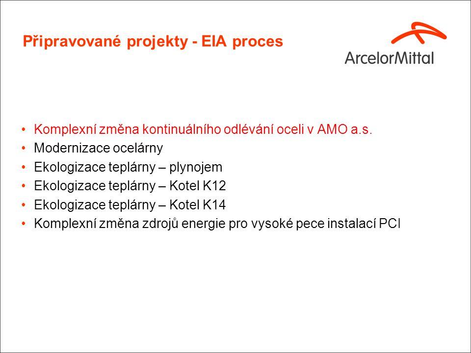 EIA Projekty – Komplexní změna kontinuálního odlévání oceli v AMO a. s