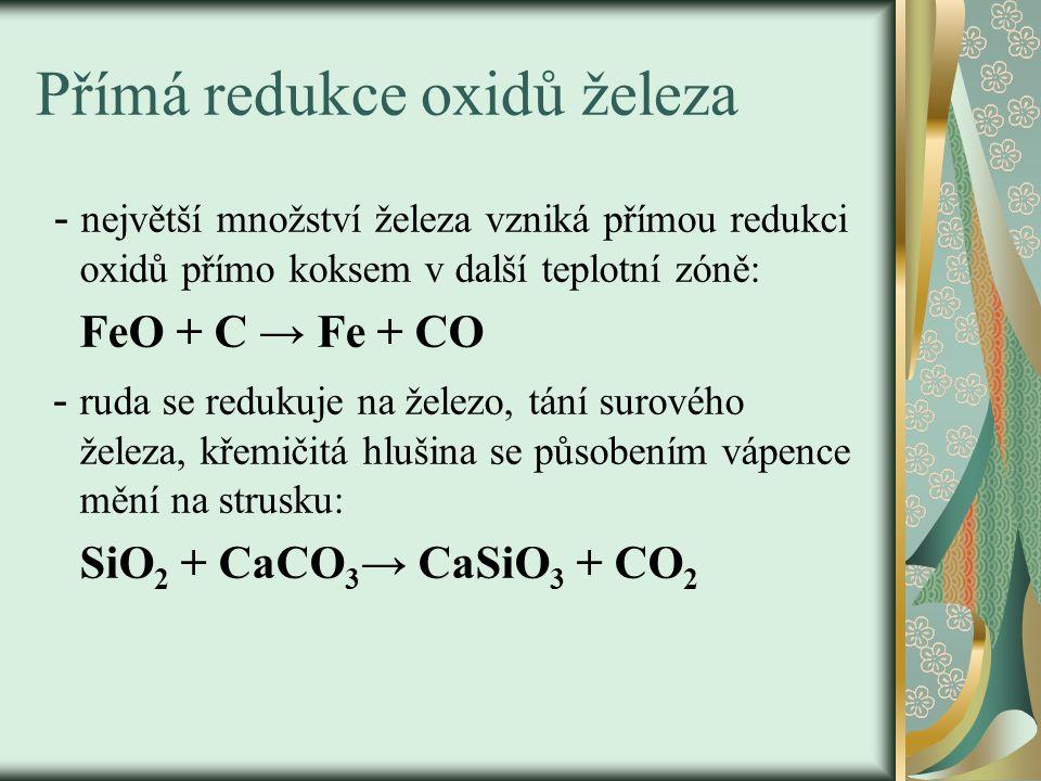 Přímá redukce oxidů železa