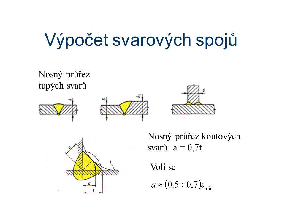 Výpočet svarových spojů