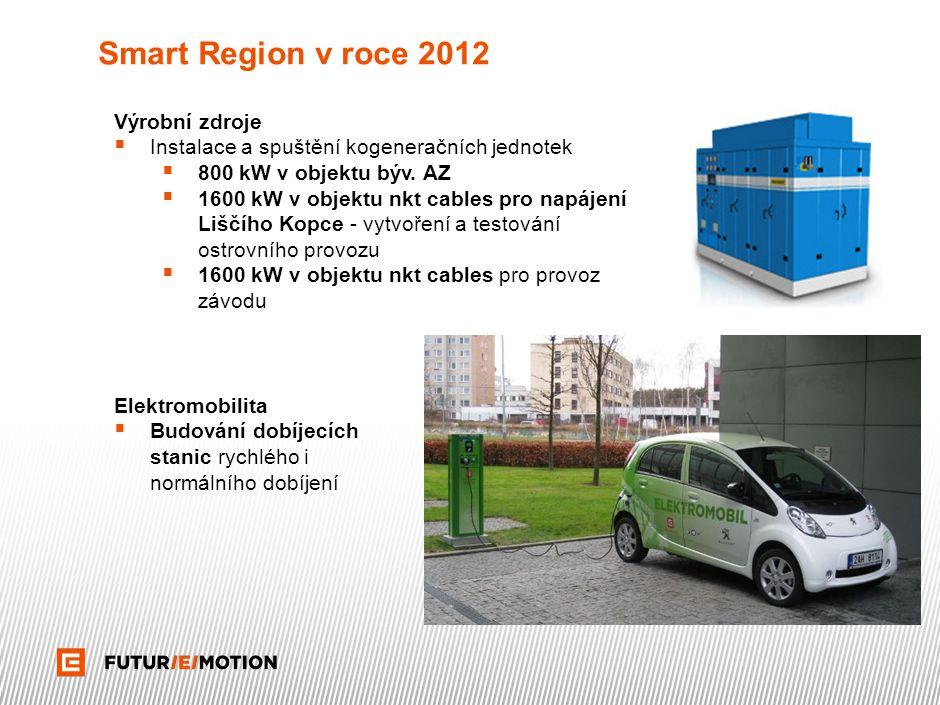 Smart Region v roce 2012 Výrobní zdroje