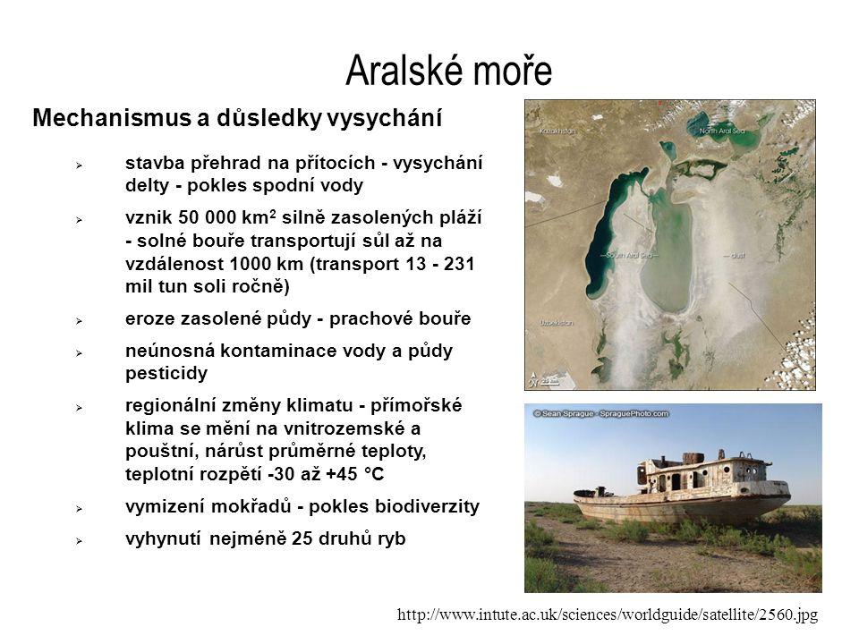Aralské moře Mechanismus a důsledky vysychání