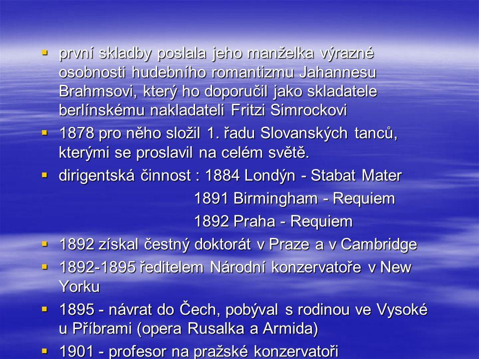 první skladby poslala jeho manželka výrazné osobnosti hudebního romantizmu Jahannesu Brahmsovi, který ho doporučil jako skladatele berlínskému nakladateli Fritzi Simrockovi