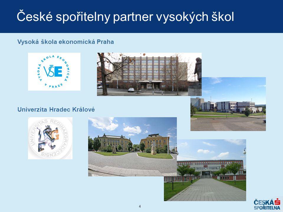 České spořitelny partner vysokých škol