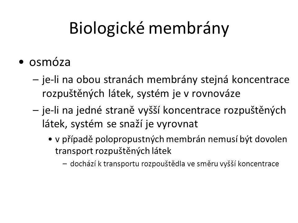 Biologické membrány osmóza